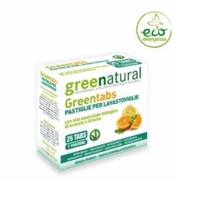 Greentabs pastiglie per lavastoviglie x25