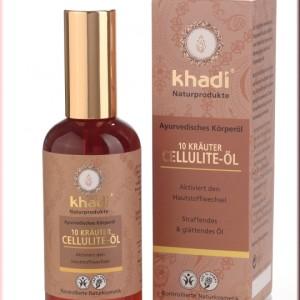 Olio anticellulite alle 10 erbe Khadi