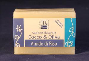 Sapone all'olio di Cocco e oliva con amido di riso TEA Natura