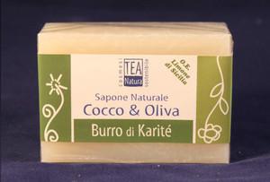 Sapone all'olio di cocco e oliva con burro di Karitè TEA Natura