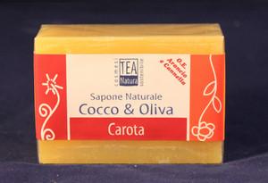 Sapone all'olio di cocco e oliva con carota TEA Natura