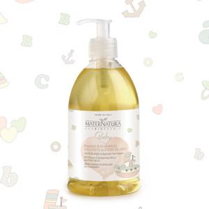 Bagno& Shampoo delicato ai fiori di lino MaterNatura
