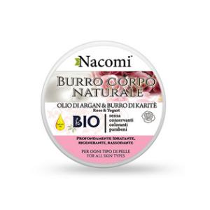 Burro corpo yogurt e rosa Nacomi