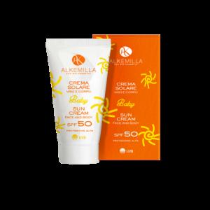 Crema solare viso e corpo Baby SPF 50 - Alkemilla